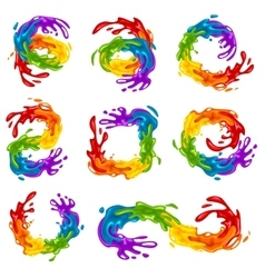 Vibrant splashes in lgbt colors vector