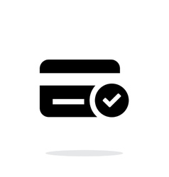 Credit card access icon on white background vector