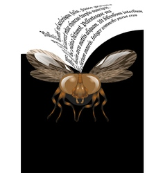Fly poster vector