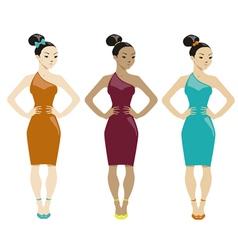 Three women vector