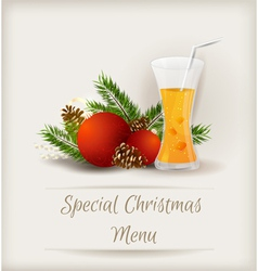 Menu juice vector