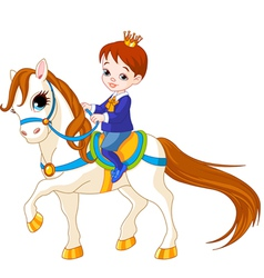 Little prince on horse vector
