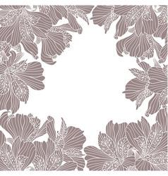Alstroemeria flower frame vector