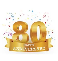 Anniversary celebration with confetti vector