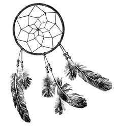 Hand drawn dream catcher vector