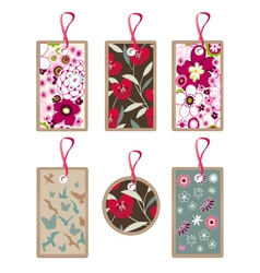 Floral tags vector