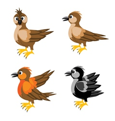Much birds sparrow vector