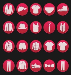 Mens clothing icon 1 vector