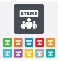 Strike sign icon group of people symbol vector