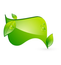 Green eco banner vector