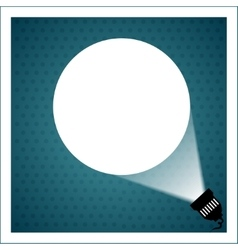 Spotlight projecting to blank wall vector