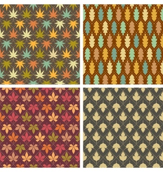 Colorful leaves patterns vector