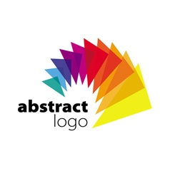 Abstract logo spectrum curved sheets vector