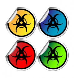 Radiation warning stickers vector