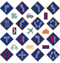Image of various road signs vector