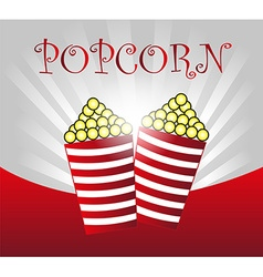 Popcorn background vector