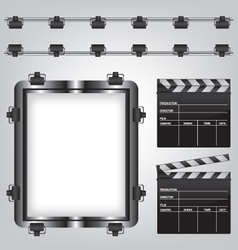 Movie equipment vector