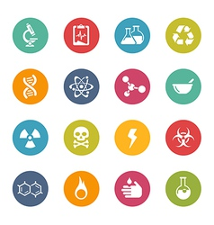Science icons vector