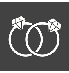 Diamond rings vector