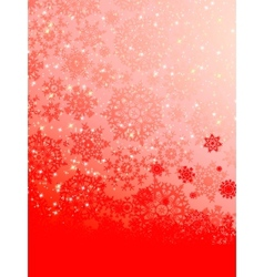 Abstract red snowflakes background vector