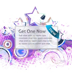 Banner with grunge background vector