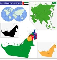 United arab emirates map vector