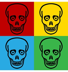 Pop art zombie icons vector