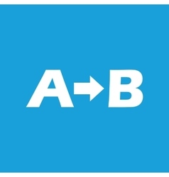 A to b icon vector