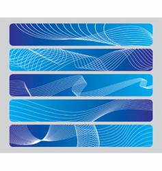 Abstract wave panel vector