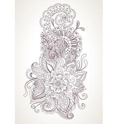 Floral orient ornament vector