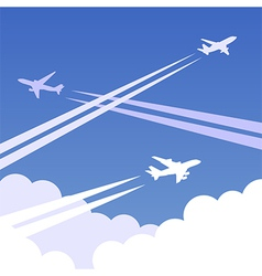 Sky planes background 01 vector