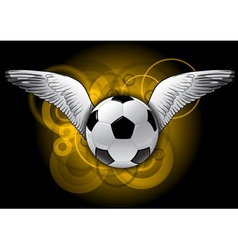 Football with wings vector