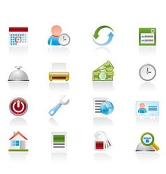 Reservation and hotel icons vector