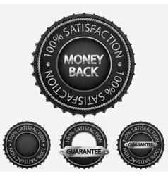 100 satisfaction black badges vector