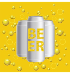 Beer cans vector