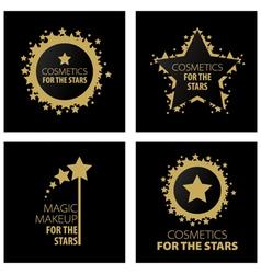 Logos magic makeup for the stars vector
