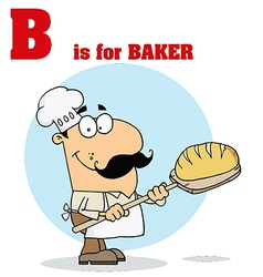 Baker cartoon with letter vector