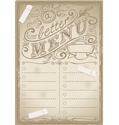Vintage graphic page for fish menu vector