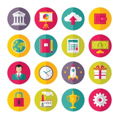 Icons set in flat design style - 02 vector