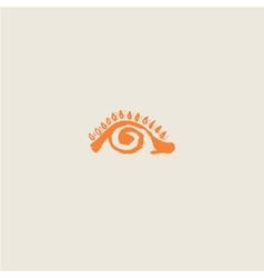 Eye - the sun the pupil spiral vector