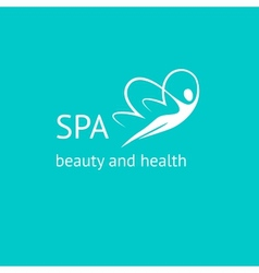 Spa logo woman butterfly vector