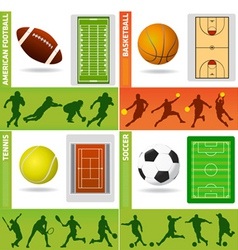 Sport field ball and design vector