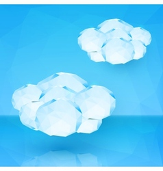 Blue crystal clouds vector