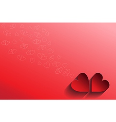 Abstract love card valentine vector