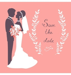 Elegant wedding couple vector