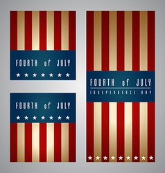 4th of july card and template vector