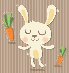 Cony and carrots vector