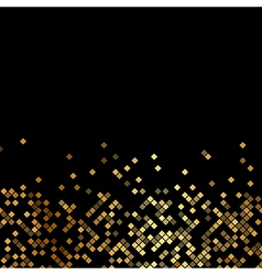 Luxury black background with gold sparklers vector