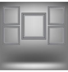 Set of wood grey frames vector