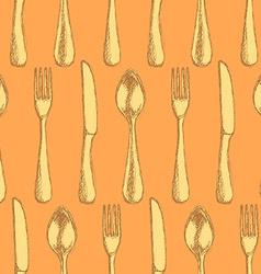 Sketch utencil in vintage style vector
